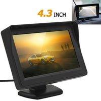 neue tft großhandel-Neue 4,3 Zoll 480 x 272 TFT LCD Digital Panel Auto Rückansicht Monitor Unterstützung 2-Kanal-Videoeingang + 420 TVL-Kamera CMO_346