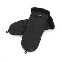 Wholesale Wholesale New Finger Genuine - Wholesale- New Fashion Half Finger Gloves 100% Sheepskin Fur for Women Genuine Leather Fur Winter Warm Gloves Mittens Black Red Pink Gloves