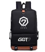 Wholesale Art Canvas Letters - Got7 backpack Martial Arts Tricking daypack Hip hop star schoolbag Band rucksack Sport school bag Outdoor day pack