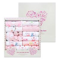ingrosso neonato regali per i ragazzi-Ultimo disegno 100% cotone neonato set di abbigliamento 15pcs neonati vestito neonate ragazzi vestiti neonati regali di natale vestiti impostati