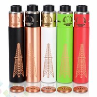 Wholesale red switches - Huge Vapor Rig 2 Kit Rig 2.0 Mod Roughneck RDA 5 Colors 18650 Battery with Magnet Switch Copper Pin DHL Free