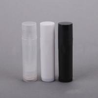 Wholesale empty lipstick container plastic resale online - 5g Empty Clear LIP BALM Tubes Containers Transparent Lipstick fashion Cool Lip Tubes Refillable Bottles Cosmetic pieces