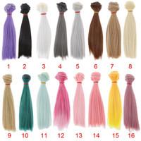 Wholesale Wholesale Bjd Wig - 15x100cm Doll DIY Wig Straight Hair for 1 3 1 4 1 6 BJD SD Barbie Dolls Accessories