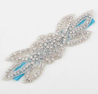 Wholesale beauty pageant accessories - 10 Colors Beauty Handmade Wedding Headband Beads Rhinestone Flower Leaves Tiara Hair Band Pageant Prom Hair Accessories YH555