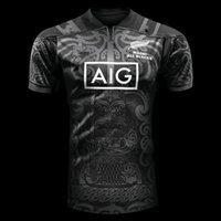 Wholesale 2017 new All Black new zealand home rugby Jerseys top Thailand quality rugby shirts men euro size S XL