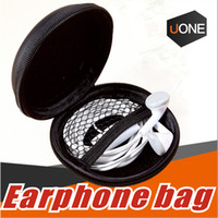 Wholesale Mini Bag Headphone - High Quality Earphone Storage Carrying Bag headphone Earbud Case Cover For USB Cable Mini Zipper Key Coin Case Without Package