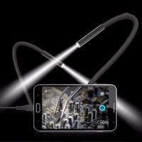 Wholesale Mirco Camera - Wholesale- 2M 6 LED USB Waterproof Endoscope Borescope Tube Snake Inspection Video Camera 7mm Lens Mirco USB Endoscope Lens Mirror