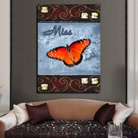 Wholesale Butterfly Specimens - Modern Canvas Painting Impressionist Butterfly specimens Print On Canvas Artwork for painting simulation Decorative painting core