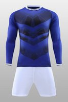 Wholesale Running Numbers - Discount Cheap Long sleeve Gym Jogging Training Running Soccer Wears With Shorts,Customized blank names numbers Custom Soccer Jerseys Sets