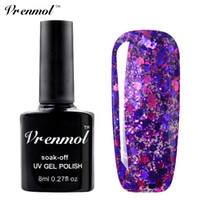 Wholesale glitter polish - Wholesale-Vrenmol 1pcs Diamond Glitter UV LED Nail Gel Polish Soak Off Starry Gel Varnishes Esmaltes Base Top Coat Gel Lacquer