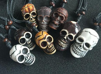 Wholesale wholesale gothic charms - free shipping 12 pcs yqtdmy Faux Jewelry Gothic Mixed Style Skull Head Biker Necklace