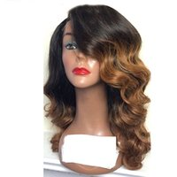 Ombre 360 ​​Lace Frontal Wigs Cabelo Humano Brazilian Hair Loose Wave Wigs # 1BT8 Cor Lace Front Peruca Pre Plucked Hairline For Women
