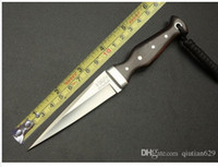 Wholesale Handmade Hunting Knives - 2017 Hot handmade knife - Randy swordfish small straight Camping knife tactical knife AUS-10A 60HRC Free shipping