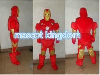 Wholesale Iron Man Mascots Costume - Iron Man Mascot Costume Fancy Dress Party Dress EPE Free Shipping Adult
