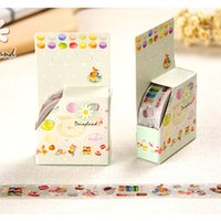 Atacado- 2016 Cartoon Shredded Macarons Papel decorativo Tape DIY Album PDA Creative Masking Tape Material escolar