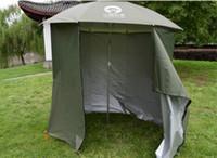 Wholesale Tent Rainproof - Wholesale- Fishing Umbrella Outdoor 2M Fastener Universal Beach Sunshade Rainproof Sunscreen Shelter All Round Beach Tent Camouflage Nets