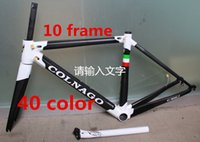 Wholesale Carbon Frame 52 - free shipping white black colnago C60 road bike carbon frame full carbon fiber road bike frame 46 48 50 52 54 56cm T1000 carbon frameset