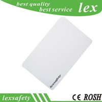 weiße proximity card großhandel-100 stücke Pro lot FM11RF08 ISO14443A 13,56 mhz 1 karat Klar blank PVC Kunststoff Schlüsselkarten Gemeinsame weiße RFID Proximity Smart Card