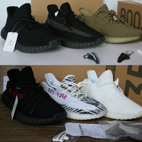 Wholesale Cream Uv - Newest SPLY 350 V2 boost cream white Triple green Triple black Bred Beluga Zebra UV black Light sneaker with 4 free gift