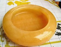 Wholesale Brass Furniture Decoration - Natural Topaz jade ashtray ashtray decoration furniture decoration