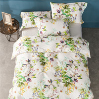 Wholesale Satin Egyptian Cotton Duvet Sets - 100%Egyptian Cotton High-quality 60s Satin Fabric Luxury Silk Duvet Cover Set Satin Long-staple Cotton Shell Butto Bedding SEt