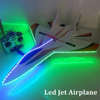 Wholesale Model Plane Motors - flash led rc plane su 27 model jet 2.4ghz 6ch remote control plane magic foam board rc airplane toy dropshipping
