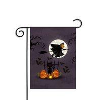 ornements de bar à la maison achat en gros de-30 * 45 cm Bar Halloween Drapeaux Citrouille Sorcière Chauve-Souris Polyester Bannière Décoration Party Home Garden Intérieur Accessoire Ornement Bar Drapeau