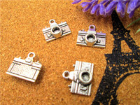 100pcs-Camera Charms, Antique Silver Camera Shape Pendant Beads 14X13mm