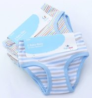 Wholesale Baby Yarn Mixed - Dyed Yarn Cotton Panties Baby Brief Children Striped Underwear Great Stretch AZO Free 10 Colors Mix Color