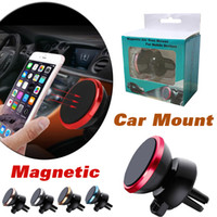 Wholesale Portable Car Mount Phone - Car Mount Air Vent Magnetic Universal Portable Car Phone Holder 360° One Step Mounting Reinforced Magnet Easier Safer Driving For Smartphone
