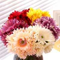 Wholesale Wreath Sunflower - 2017 Festive & Party Supplies Gerbera Red Sunflower Simulation flower bouquet Decorative Flowers & Wreaths Yellow purple Simulation flower