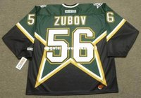 commercio all'ingrosso personalizzato Throwback Mens SERGEI ZUBOV Dallas Stars 1999 CCM Throwback Away Cheap Retro Hockey Jersey