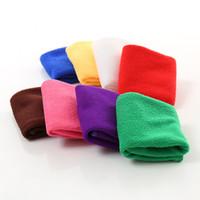 ingrosso asciugamano usa-Panno di pulizia a caldo 25 * 25 cm Aspirazione rapida di acqua Aspirazione Auto Asciugamano pulito Fibra superfina Pulizia della cucina Salone di bellezza Asciugamani IC799