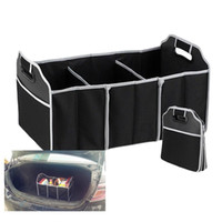 Wholesale Car Organizer Boot Stuff Food Storage Bags trunk organiser Automobile Stowing Tidying Interior Accessories Folding Collapsible wn019