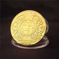 Wholesale Chinese Folk Arts - Maya civilization mysterious relics Chinese characters Gold Plated Coin