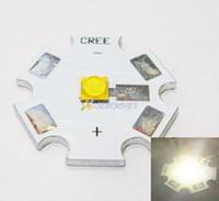Wholesale Cree Star - Wholesale- 5PCS Cree XLamp XT-E XTE Neutral White 1W 3W 5W LED Light Emitter Bulb 4500K 20mm Star PCB Free Shipping