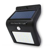 Wholesale V Solar - V Shaped Solar Light 16 LED PIR Motion Light Sensor Wall Lamp Waterproof night light for Outdoor Garden Path Corridor
