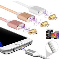 Wholesale Fits Data - 2 in 1 Magnetic Charger Data Cable Micro 3 Fit Type C Cable For phone 7 6s plus Andriod Sumsang Opp Bag