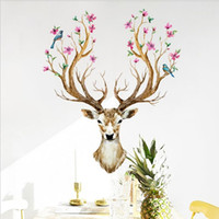 Wholesale Landscape Lighting Paintings - 2017 Environmental protection fashion DIY Painting wall sticker Carved bedroom living room Removable Decorating art Sticker Decor Wholesale