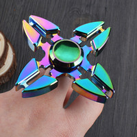 Wholesale popular toys for kids for sale - Group buy Popular Rainbow HandSpinner Finget Gyro For Decompression Anxiety Fidget Toys