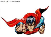 """Wholesale Free Superman Movie - 5"""" DC Comics Superman Flying Fist Out Superhero TV Movie Series costume applique sew on  iron on patches clothing Free Shipping"""