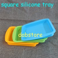 Wholesale Dishes Modern - Best selling square Pan 8.7'' Non Stick Silicone Container Concentrate Oil BHO dish with free shipping