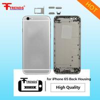 eecc6d68571 Alta calidad A +++ para iPhone 5 5C 5S 6 6Plus 6S 6SPlus Plus carcasa  trasera cubierta de la batería mediados de Frame Metal posterior 10pcs / lot
