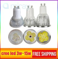 Wholesale E27 Led Bulb Dc12v - x4pcs led lights 9w 12w 15W COB GU10 GU5.3 E27 E14 MR16 Dimmable LED Sport light lamp High Power bulb lamps DC12V AC 110V 220V 240V bulbs