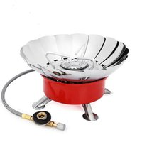 Wholesale Cookout Burner - 2016 New Brand Windproof Stove Cooker Cookware Gas Burner for Camping Picnic Cookout BBQ With Extended pipe