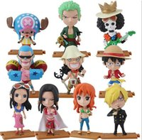 Luffy Sammlungen Kaufen -10pcs / lot ONE PIECE Action Figuren Anime Luffy Zoro Nami Robin Chopper Sanji PVC Brinquedos Kollektion Figuren Spielzeug