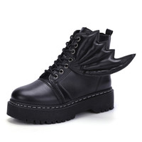 Wholesale Plush Easter Peeps - Woman Genuine Leather Ankle Boots Silvery Red Lace-Up Plush Boots 2018 Autumn Winter Fashion Flat With Oxford Shoes