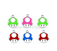 Wholesale Mushroom Charms Pendants - New Super Mario Mushroom head Metal Charm pendants Jewelry Making Party Gifts xtie26029
