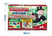 Wholesale Monopoly Travel - Monopoly Game Chess World Travel Paper Money Version Edition Real Estate Tycoon Powerful Swing Puzzle Board Tour Coin Regal Game
