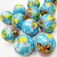 Wholesale Amusement S - World Map Foam Earth Globe Stress Relief Bouncy Ball Atlas Geography Decompression Amusement Learning Science Toys